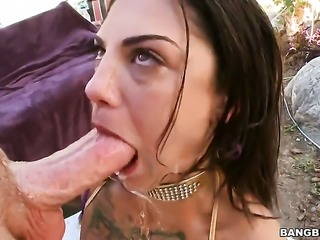 Bonnie Rotten gets  an anal gangbang
