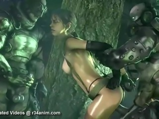 Metal Gear Quiet Porn Animations Compilation (Rule 34)