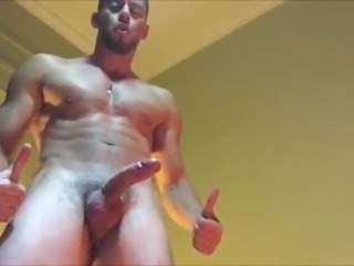 Str8 Muscle Handsfree Cumshot