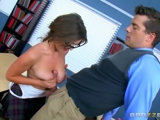 When I saw this kinky students big breasts, I couldn't stop without touching...
