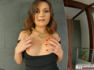 AllInternal Shy newbie gets vaginal creampie
