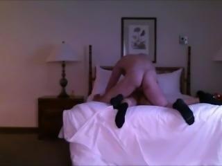 Latino pounded hard wearing black socks