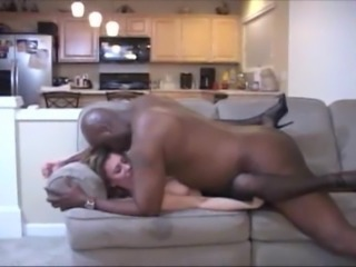 slut wife in black lingerie screwed hard at home by bbc