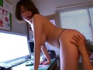 Ardent rear pounding scene with horny Japanese mom Mio Takahashi