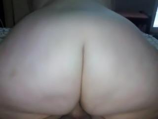 Bbw big ass ride reverse cowgirl pov