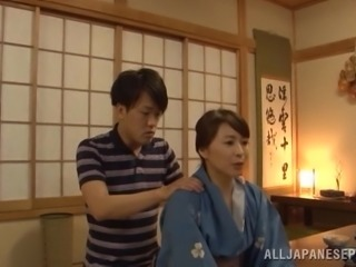 Japanese mom Yuuki Itano gets her pussy fingered and banged hard