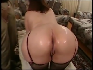 Vintage Big butt Chubby massage threesome with facial