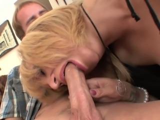 Blonde big tits milf in stockings & heels fucks gr8