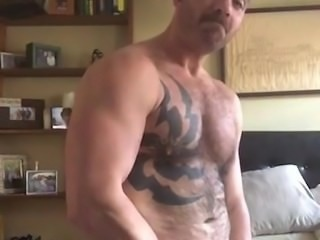 Hot Hairy Muscle Daddy Cums for Me