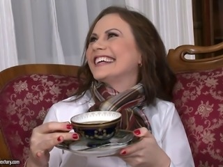 Tina Kay is double penetrated and has a screaming orgasm