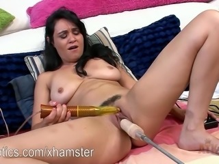 Charlie Chase moaning a cumming for the sex machine