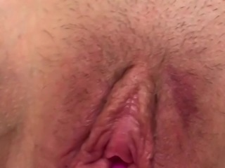 Wife's pussy cum toying wife till she cums hard on toy Pt 2