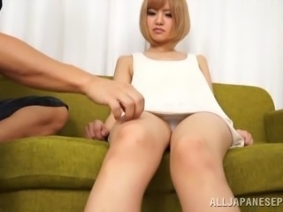 Japanese cowgirl seduced foot fetished and nailed missionary