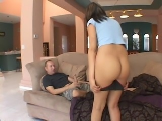 Young Latin floozie Celina Cross was seduced by horny elder man