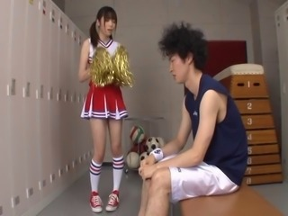 Foxy Japanese babe Mana Haruka loves riding on stiff boners