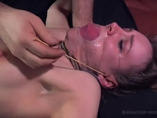 Meet Sierra Cirque and her bizarre bdsm training. She is tied with ropes on...