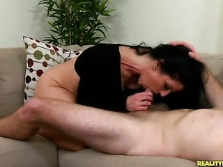 Levi Cash has fantastic oral sex with Piercings Jade Steele with huge tits...