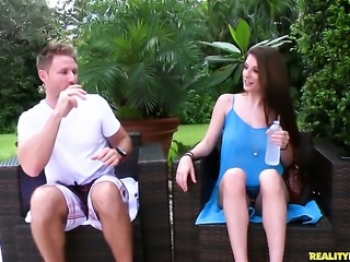 Levi Cash gets pleasure from fucking Brunette Dillion Carter