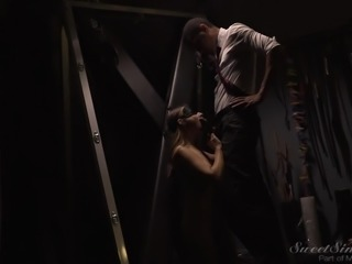 Her pleasure is heightened when she has a blindfold on, while sucking him off...