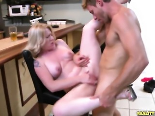 Levi Cash gets turned on by Piercings Shawnie Austin and then bangs her mouth