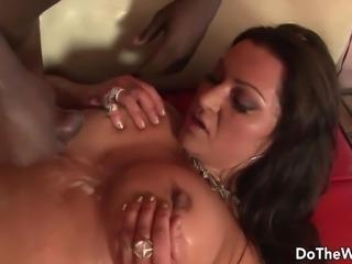 Hot MILF pornstar takes big black dick for husband