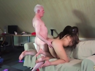 Smutty Professor Fucks Naughty Students old young threesome