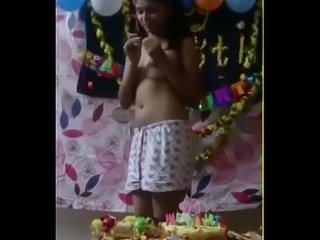 Birthday celebrated and fuck indian teen
