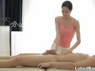 Amazing oily cock massage