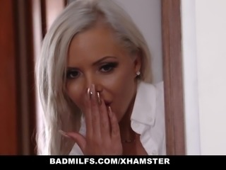 BadMILFS - Hot Blonde Stepmom Seduces Young Boyfriend