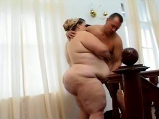 BBW Mature Slut Fucking Hardcore Her Muscled Husband