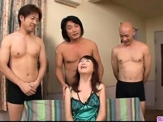 Naho Kojima gets several men to fuck her hard