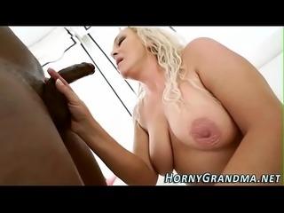 Mature grandma gets fuck