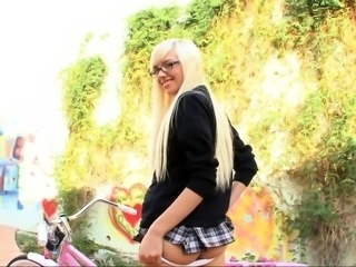Euro mature in schoolgirl uniform doggystyle fucked