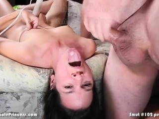 Husbands feeds wife another man's cum with his big cock!