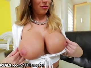 Brooklyn Chase's 2 Fav Things: Tit Fucking & Sucking Dick