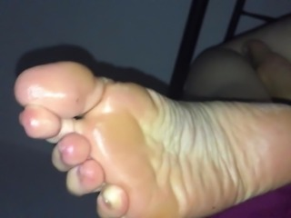 Foot fetish & and pussy play