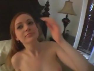 redhead girl sucks cock and gets facials