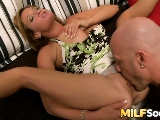 MILF Tory Lane gets anal from bald dude