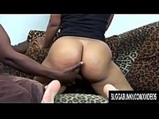 Alluring Black Cutie Pursuajon Spreads Her Legs for a Hard Cock
