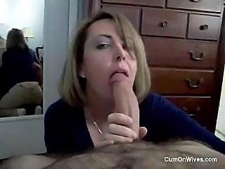 German Wife Eats Cum
