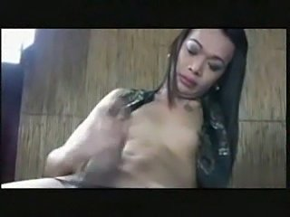 Asian Transsexual Cumshots