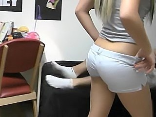 Two blonde teens share a cock. Dare dorm! (Dare Dorm)
