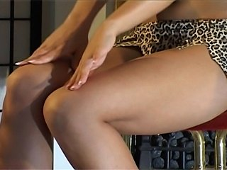 Gabi Goes Wild in her leopard outfit