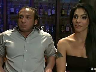 Sexy Teigh Jiana Fucks Dude at a Bar, Gloryhole